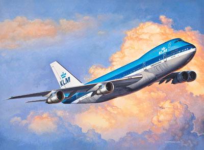 Revell mudellennuk Boeing  747  200 1:450