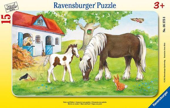 Ravensburger plaatpusle Hobused 15 tk