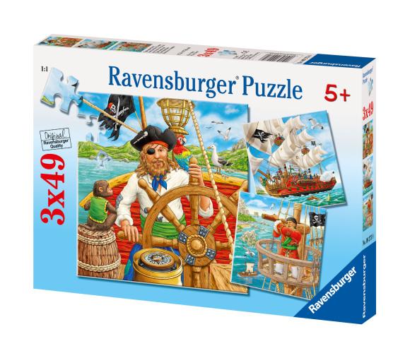 Ravensburger pusle Piraatide seiklused 3 x 49 tk