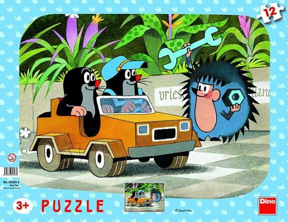 Dino plaatpusle Mutt ja väike auto 12 tk