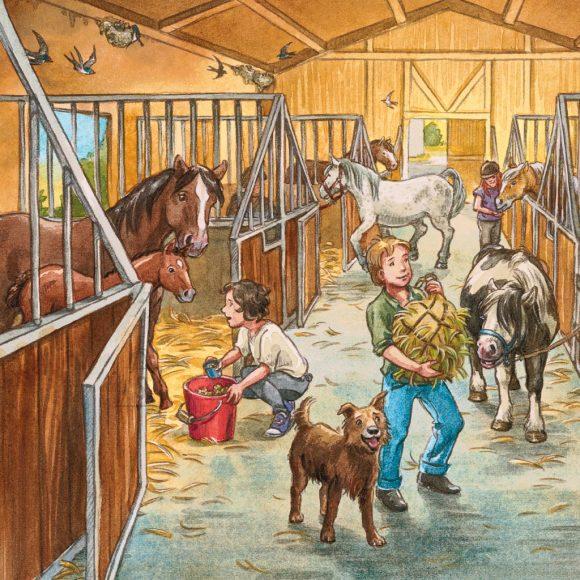 Ravensburger pusle Päev hobustega 3 x 49 tk