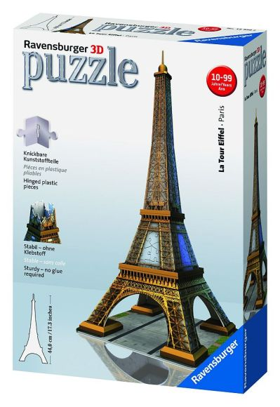 Ravensburger 3D pusle Eiffeli torn - Pariis 216 tk