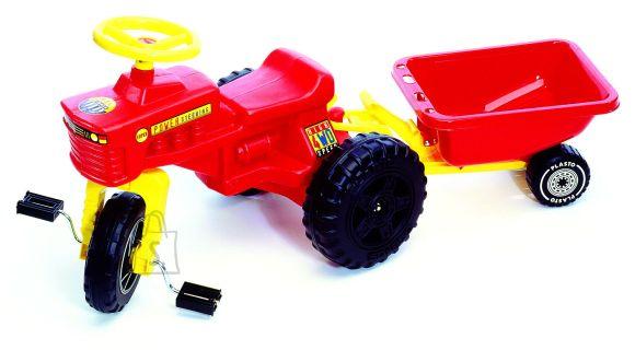 Plasto traktor käruga 105 cm