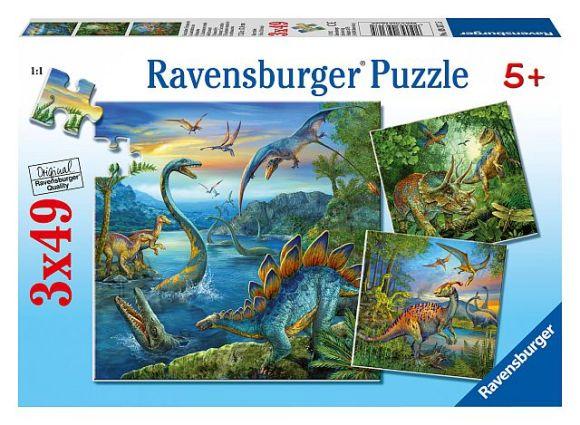 Ravensburger pusle Dinosaurused 3x49 tk