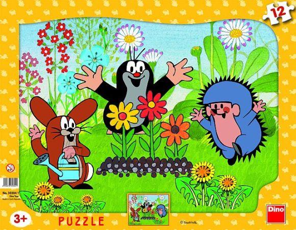 Dino plaadipuzzle Mutt kui aednik 12 tk