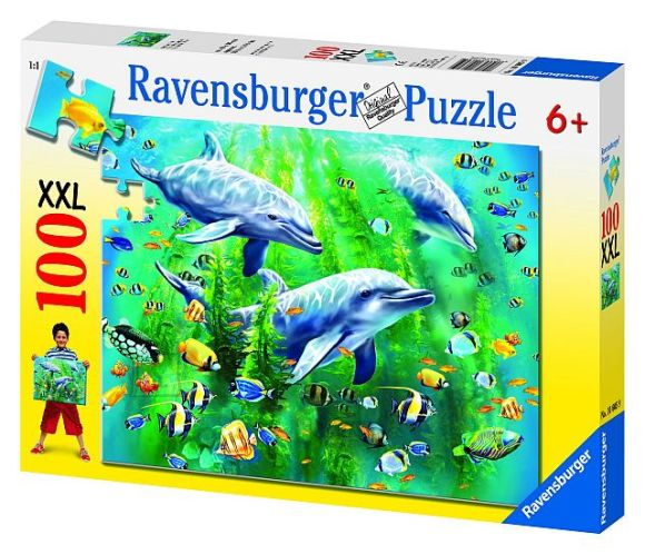 Ravensburger pusle Delfiinid 100 tk