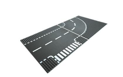 LEGO City maanteeplaat, pööre