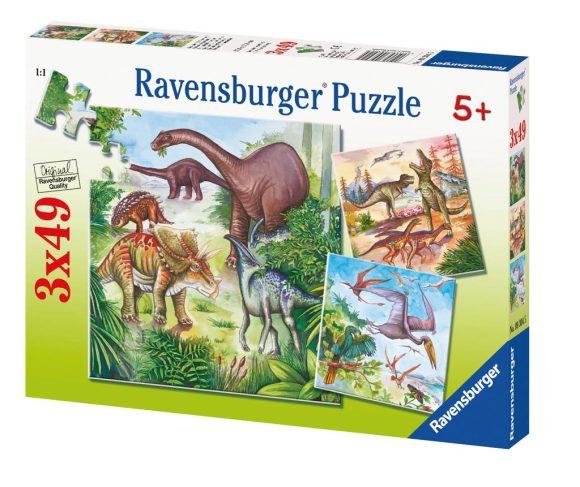 Ravensburger pusle Dinosaurus 3 x 49 tk