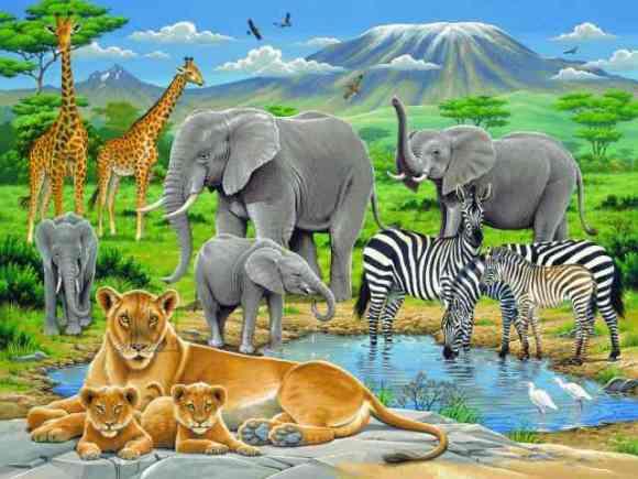 Ravensburger pusle Aafrika loomad 200 tk