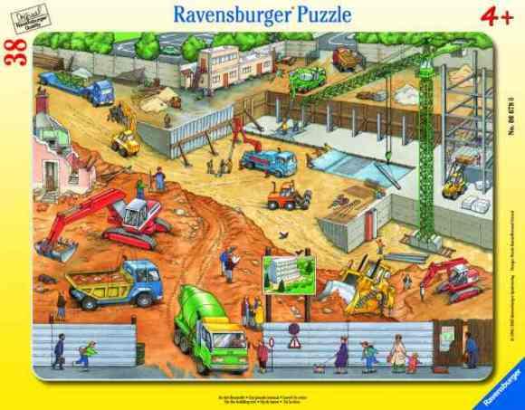 Ravensburger plaatpusle Ehitusel 38 tk