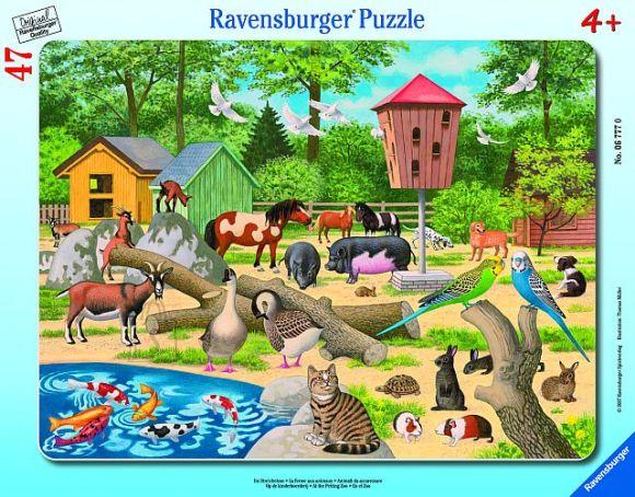 Ravensburger plaatpusle Loomaaias hellitamas 47 tk