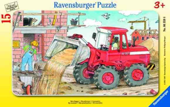 Ravensburger pusle Minu ekskavaator 15 tk