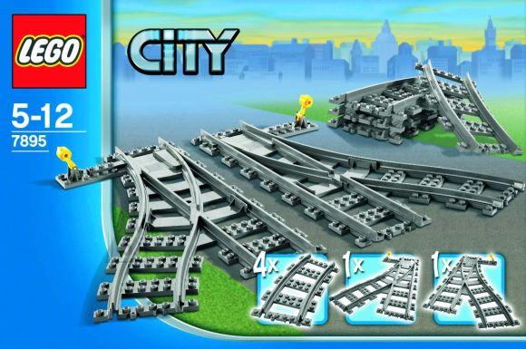 LEGO City relsid - pöörangud