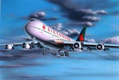 Revell mudellennuk Boeing 747-200 `Air Canada`  1:390