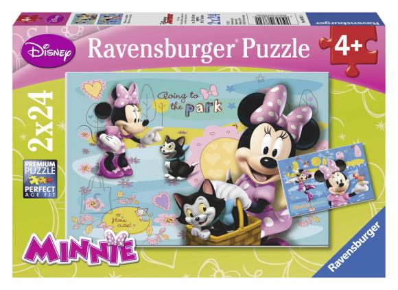 Ravensburger pusle Minnie kiisuga 2 x 24 tk