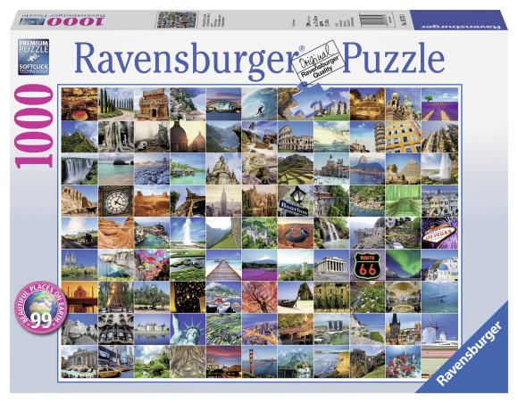 Ravensburger pusle 99 kaunimat kohta maakeral 1000 tk