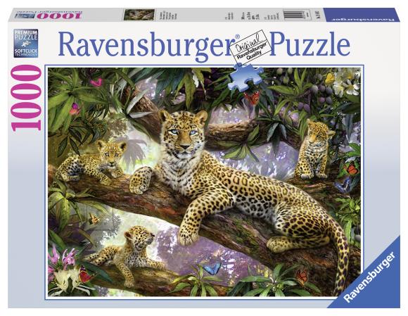 Ravensburger pusle Leopardi pere 1000 tk