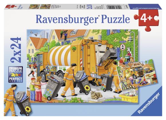 Ravensburger pusle Prügiauto 2 x 24 tk