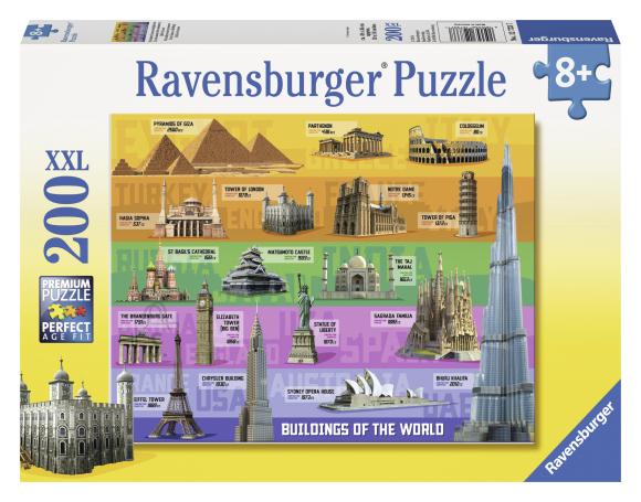 Ravensburger pusle Maailmakuulsad ehitised 200 tk