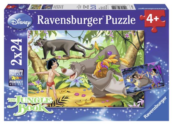 Ravensburger pusle Mowgli ja sõbrad 2 x 24 tk