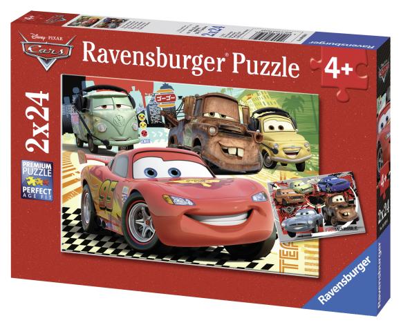 Ravensburger pusle Cars 2 x 24 tk