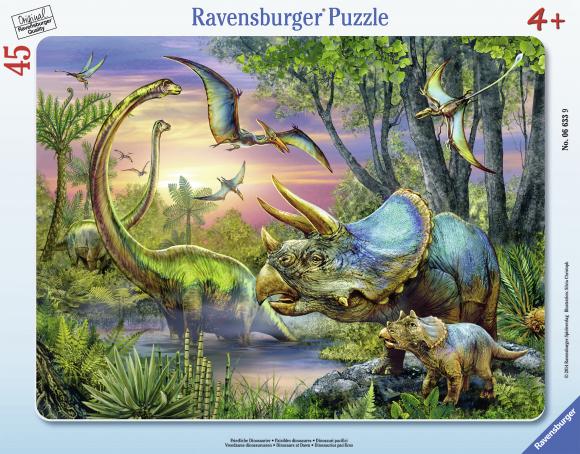 Ravensburger plaatpusle Dinosaurused 45 tk