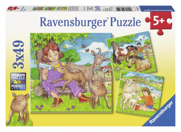 Ravensburger pusle Loomalaste toitmine 3 x 49 tk