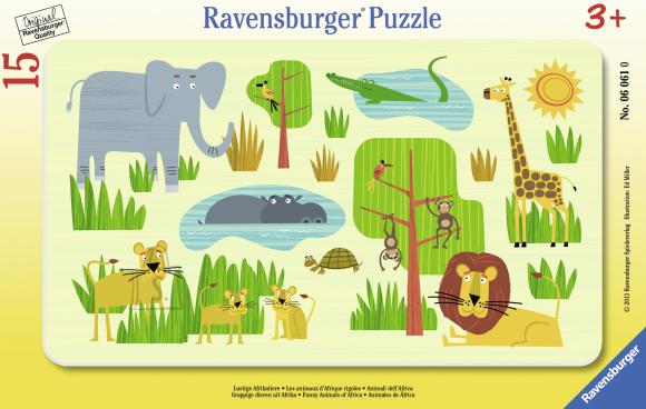 Ravensburger plaatpusle Aafrika lõbusad loomad 15 tk