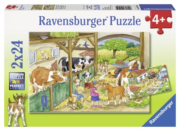 Ravensburger pusle Päev farmis 2 x 24 tk