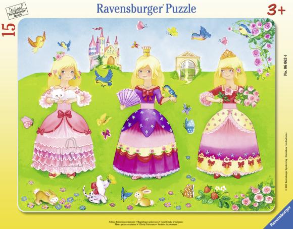 Ravensburger plaatpusle Rõõmsad printsessid 15 tk
