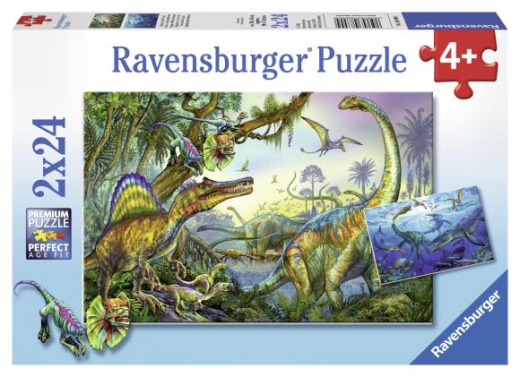 Ravensburger pusle Dinosaurused 2 x 24 tk