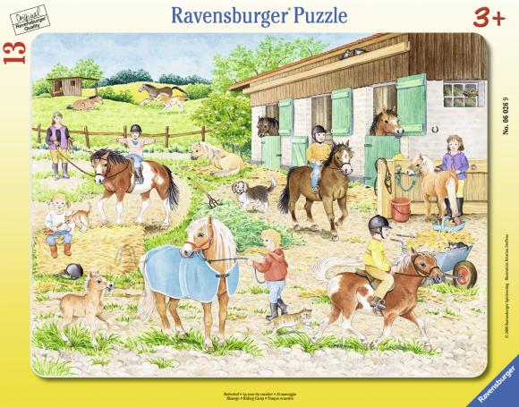 Ravensburger plaatpusle Ratsalaager 13 tk
