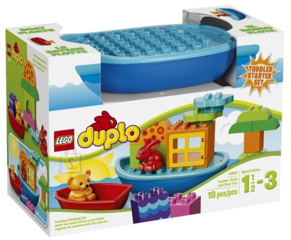 LEGO komplekt DUPLO väikelaste lõbus laevaehitusmäng