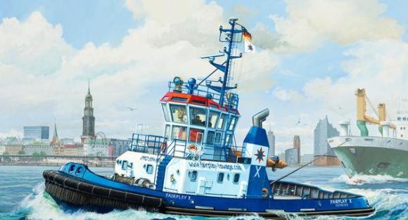 Revell mudellaev Harbour Tug Boat Fairplay I,III,X 1:144