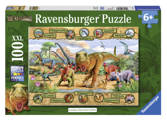 Ravensburger pusle Dinosaurused XXL 100 tk