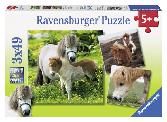 Ravensburger pusle Sõbralikud ponid 3 x 49 tk