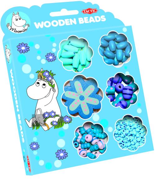 Tactic puidust sinised pärlid Muumi