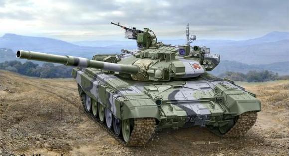 Revell mudeltank Russian Battle Tank T-90A 1:72
