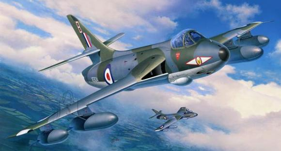 Revell mudellennuk Hawker Hunter FGA.9/Mk.58 1:32