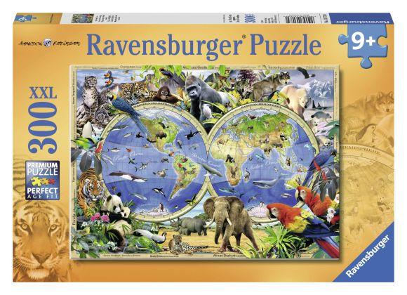 Ravensburger pusle Maailma-atlas loomadega 300 tk
