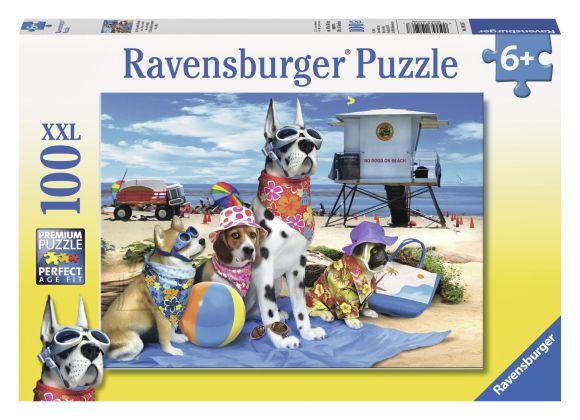Ravensburger pusle No Dogs On The Beach 100 tk