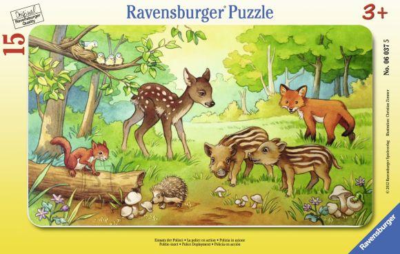 Ravensburger plaatpusle Metsloomakesed 15 tk