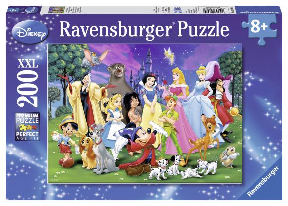 Ravensburger pusle Disney lemmiktegelased 200 tk