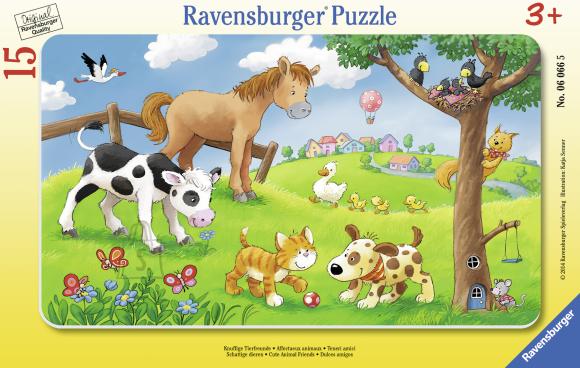 Ravensburger plaatpusle Imearmsad loomad 15 tk