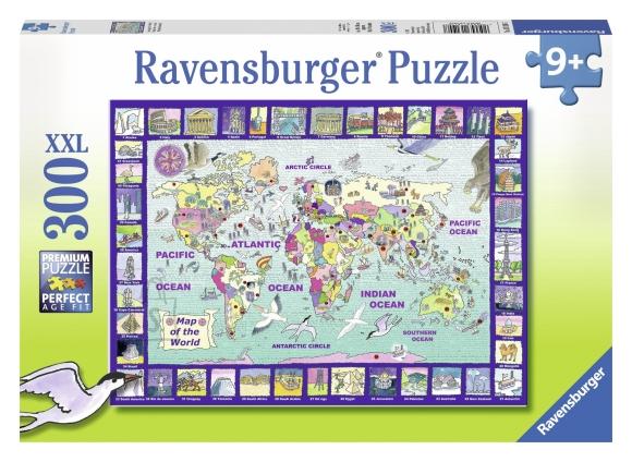 Ravensburger pusle Maailmakaart 300 tk