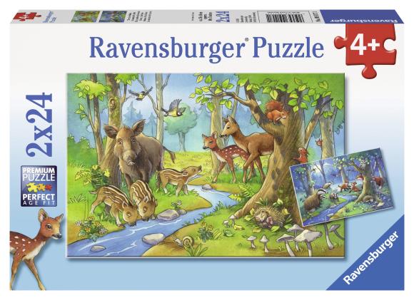 Ravensburger pusle Metsloomad 2 x 24 tk