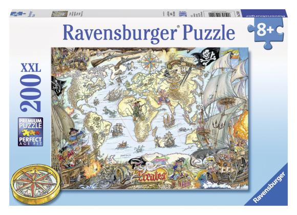 Ravensburger pusle Piraadid maailmakaardil 200 tk