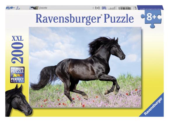 Ravensburger pusle Must ratsu 200 tk