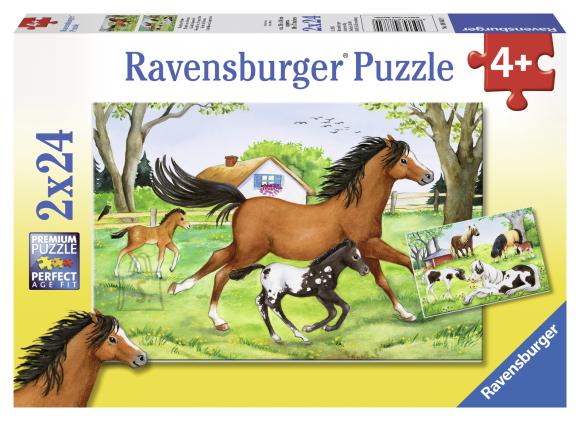 Ravensburger pusle Hobuste maailm 2 x 24 tk