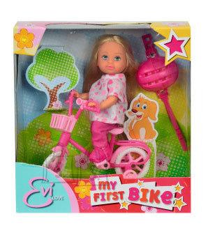 Simba nukk Evi jalgrattaga